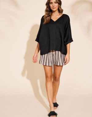 Eb and Ive Masai Top in Black