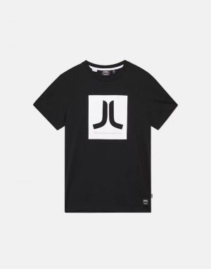 wesc box classic icon t-shirt in black