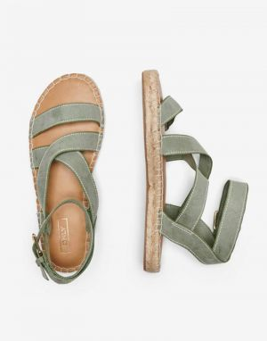 Only Elle Espadrille Flat Sandals in Khaki
