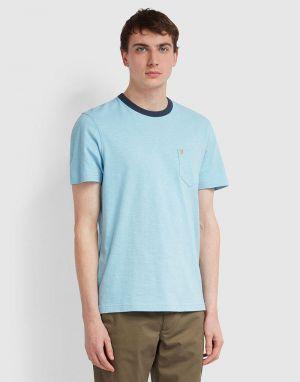 mens ringer t-shirt in moonstone blue