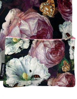 Vanilla Fly Velvet Pouch Small - Print 4