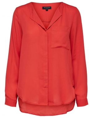 Selected Femme Dynella Shirt in Poppy Red