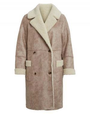 Vila List 2 in 1 Shearling Coat
