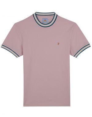 Farah Birmingham T-Shirt in Pink Alabaster