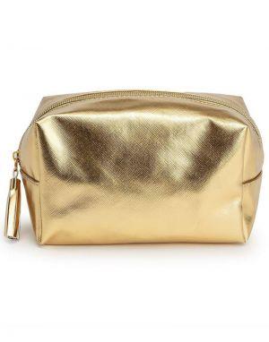Metallic Gold Make Up Bag