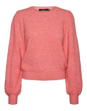 Vero Moda Lefile Puff Sleeve Jumper in Pink