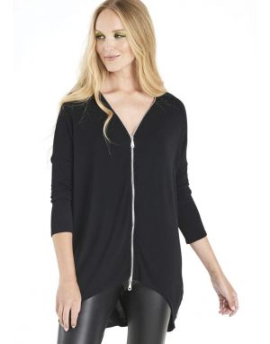 A Postcard from Brighton Flick Zip Top in Black