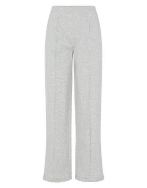 Pieces Chilli Wide Leg Lounge Pants in Grey Melange
