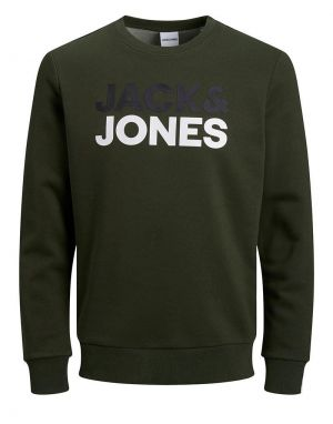 Jack and Jones Sports Sweater in Forest Night