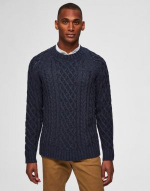 Selected Homme Fred Knit in Dark Sapphire
