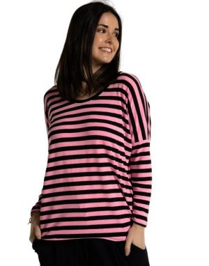 A Postcard from Brighton Sonia Striped Top in Pink