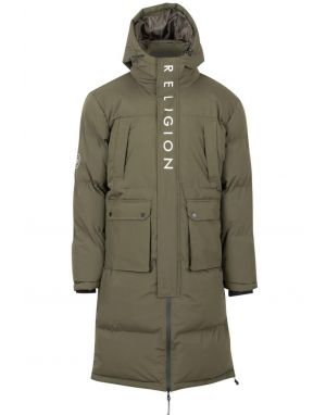 Religion Discovery Padded Parker in Khaki