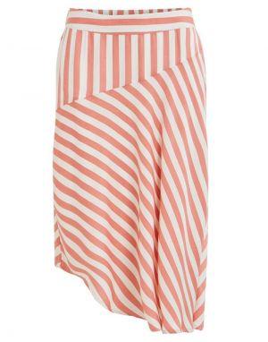 Vila Stribello Midi Skirt in Pink