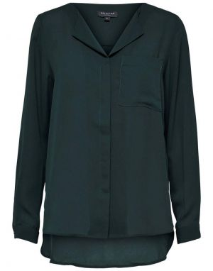 Selected Femme Dynella Shirt in Scarab