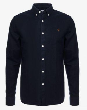Farah Minshell Slim Shirt in True Navy