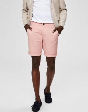 Selected Homme Straight Paris Shorts in Mellow Rose