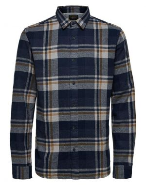 Selected Homme Gunnar Check Shirt in Burro Check