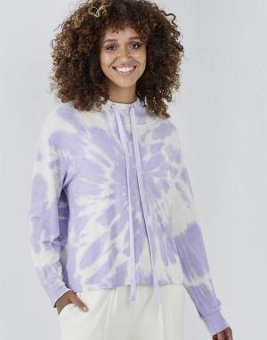 Sundae Tee Stella Tie Dye Hoodie in Lilac