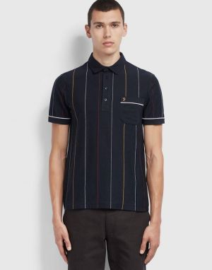 Farah Barras Polo Shirt in True Navy