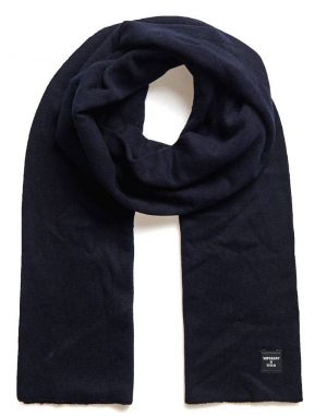 Superdry Fine Lux Cashmere Scarf in Carbon Navy