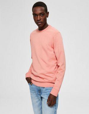 mens basic pink top organic cotton