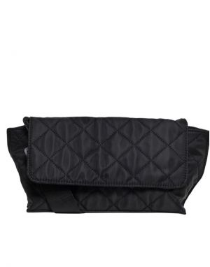Only Ella Nylon Quilted Bag in Black