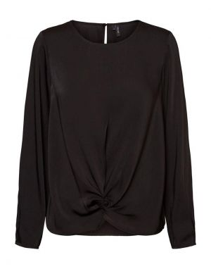 Vero Moda Stanly Knot Top in Black
