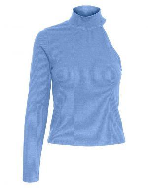 Vero Moda Sadie One Sleeve Top in Hydrangea