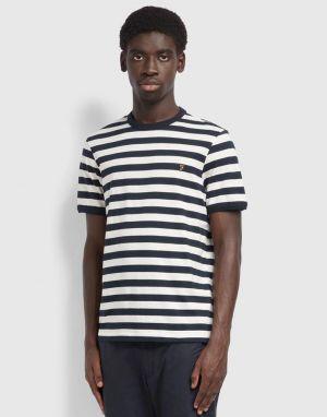 Farah Belgrove Stripe T-Shirt in Ecru