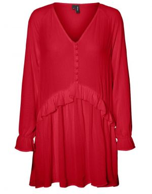 Vero Moda Zigga Tunic in Red