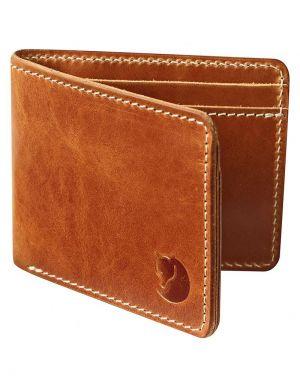 fjallraven ovik leather wallet in tan
