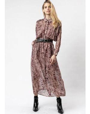 Religion Joy Shirt Dress in Imprint