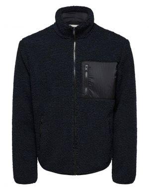 Selected Homme Jaxon Teddy Jacket in Black