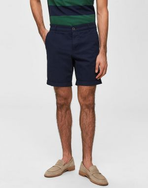 Selected Homme Straight Paris Shorts in Dark Sapphire