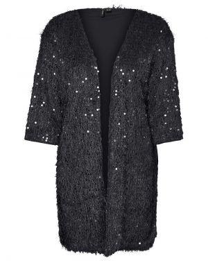 Vero Moda Kalmia Sequin Cardigan in Black