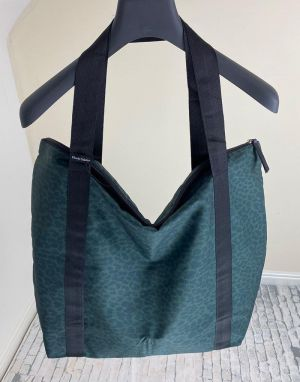 Black Colour Ally Shopper Bag in Camo Leo One Size