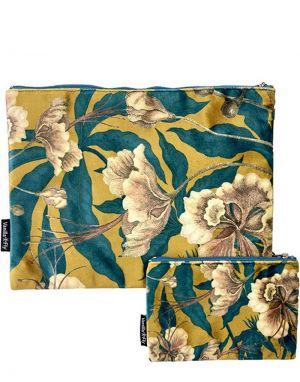 Vanilla Fly Velvet Pouch Large - Print 22