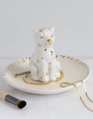 Lisa Angel Leopard Trinket Dish