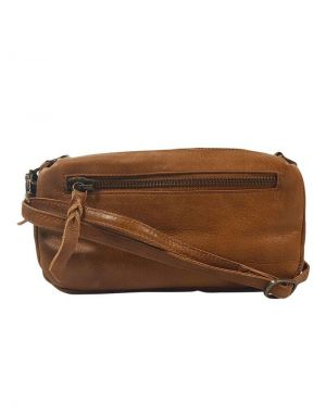 Black Colour Soft Box Leather Bag in Tan