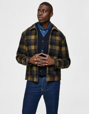 Selected Homme Lincoln Wool Jacket in Butternut