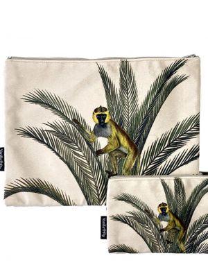 Vanilla Fly Velvet Pouch Large - Print 20