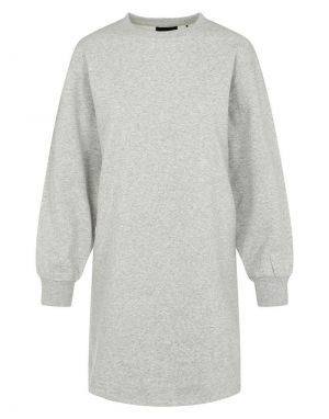 Pieces Chilli Long Lounge Sweater Dress in Grey Melange