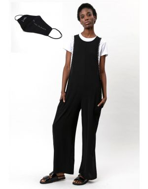 Religion Outlook Jumpsuit in Black + FREE Religion Face Mask