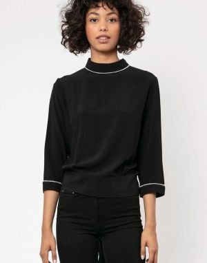 Religion Centre Backless Top in Black