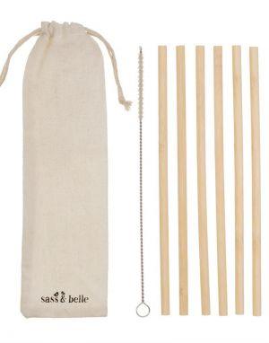 Bamboo Straws - Set of 6