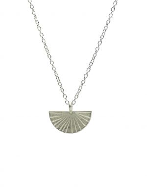 One and Eight Fan Necklace - Silver