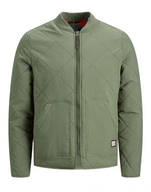 Jack and Jones Worker Quilted Jacket in Dusty Olive