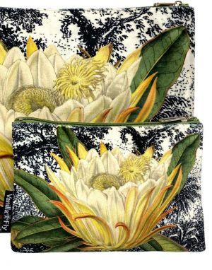 Vanilla Fly Velvet Pouch Small - Print 11