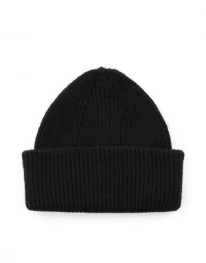 Pieces Scarlet Hood Beanie Hat in Black