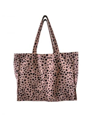 Black Colour MY BIG Shopper Bag in Rose